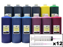 12x1L Ink Refill Kit for CANON PFI-105, PFI-106, PFI-206, PFI-304, PFI-306, PFI-704, PFI-706