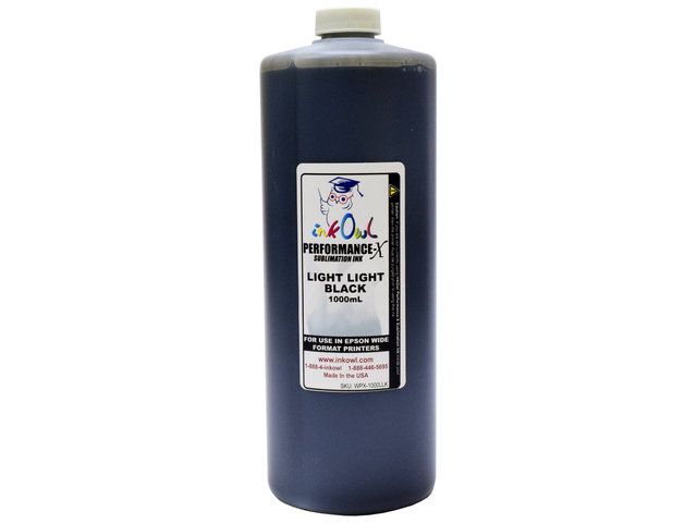 1000ml LIGHT LIGHT BLACK Performance-X Sublimation Ink for Epson Wide Format Printers