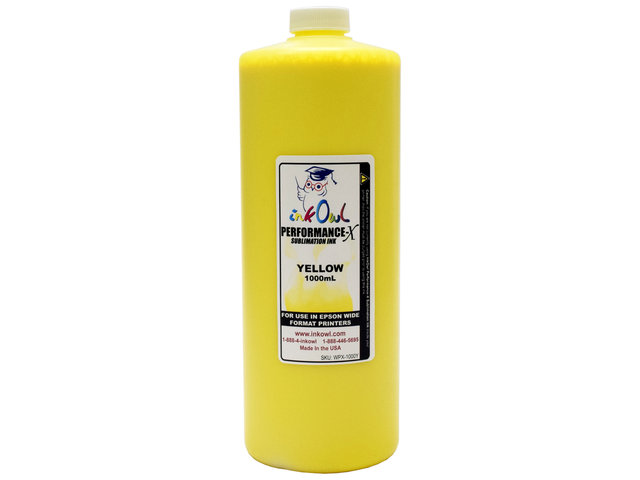1000ml YELLOW Performance-X Sublimation Ink for Epson Wide Format Printers