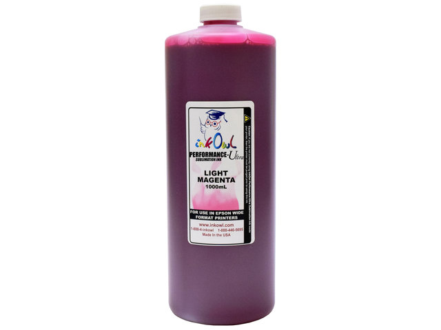 1000ml LIGHT MAGENTA Performance-Ultra Sublimation Ink for Epson Wide Format Printers
