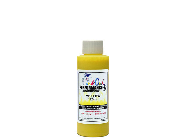 120ml YELLOW Performance-R Sublimation Ink for use in Ricoh® and Virtuoso® printers