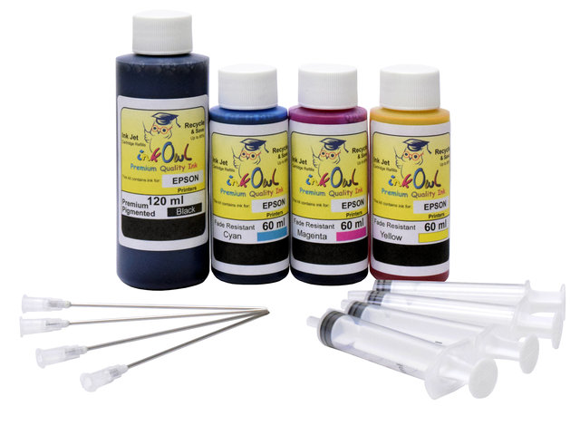 Combo Kit (120ml/60ml) for EPSON EcoTank Printers using 522 and other ink