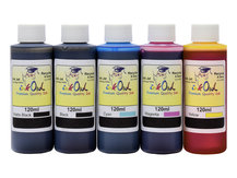 5x120ml ink to refill CANON PFI-007, PFI-107, PFI-207, PFI-307, PFI-707