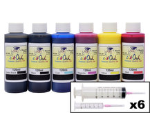 6x120ml Ink Refill Kit for CANON PFI-105, PFI-106, PFI-206, PFI-304, PFI-306, PFI-704, PFI-706
