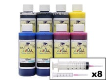 8x120ml Ink Refill Kit for CANON PFI-105, PFI-106, PFI-206, PFI-304, PFI-306, PFI-704, PFI-706