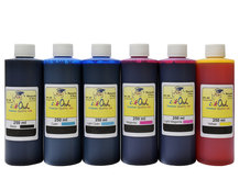 6x250ml FADE RESISTANT Dye Ink for EPSON