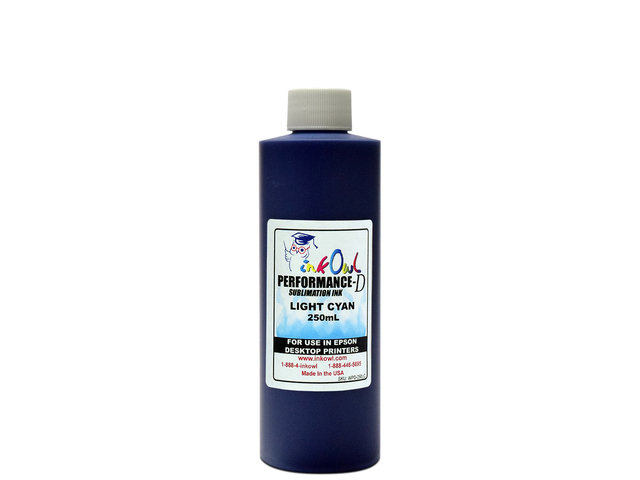 250ml LIGHT CYAN Performance-D Sublimation Ink for Epson Desktop Printers
