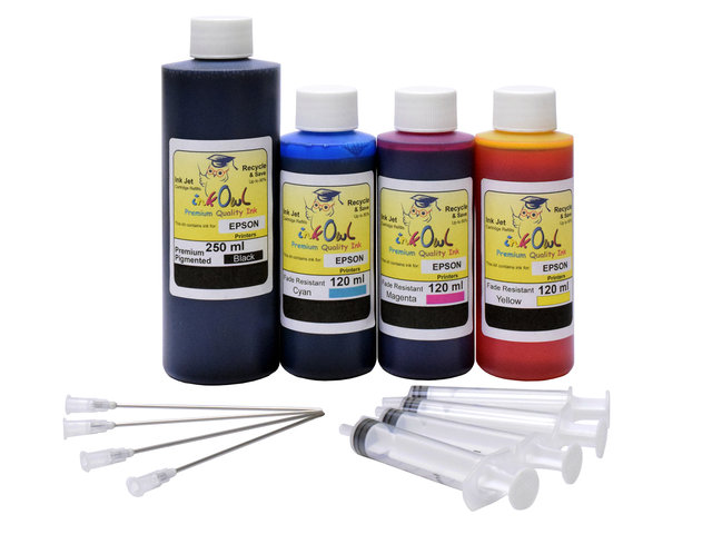 Mega Kit (250ml/120ml) for EPSON EcoTank Printers using 522 and other ink