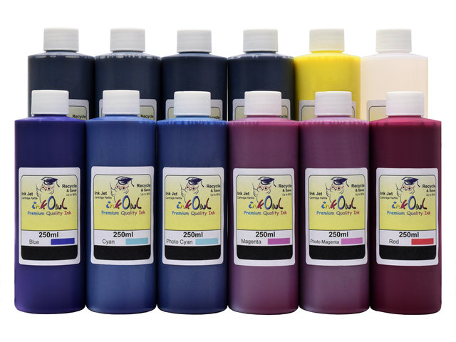 12x250ml ink to refill CANON PFI-1000, PFI-1100, PFI-1300, PFI-1700