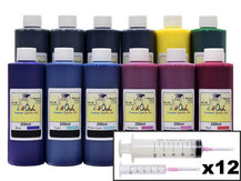 12x250ml Refill Kit for CANON PFI-105, PFI-106, PFI-206, PFI-304, PFI-306, PFI-704, PFI-706