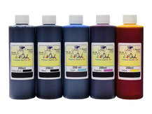 5x250ml ink to refill CANON PFI-007, PFI-107, PFI-207, PFI-307, PFI-707