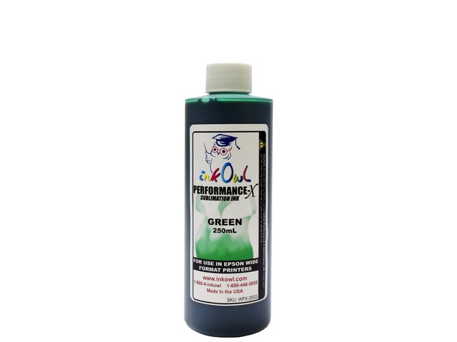 250ml GREEN Performance-X Sublimation Ink for Epson Wide Format
