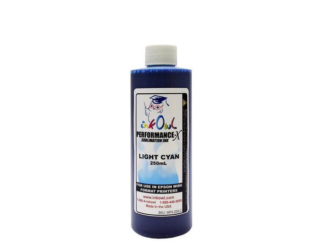 250ml LIGHT CYAN Performance-X Sublimation Ink for Epson Wide Format Printers