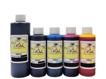 250ml Pigmented Black and 120ml Dye Black, Cyan, Magenta, Yellow Ink for use in CANON printers
