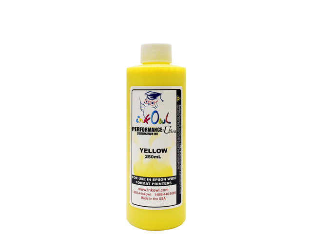 250ml YELLOW Performance-Ultra Sublimation Ink for Epson Wide Format Printers