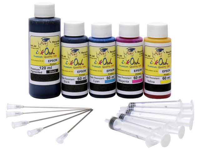Combo Kit (120ml/60ml) for EPSON EcoTank Printers using 512 and other ink