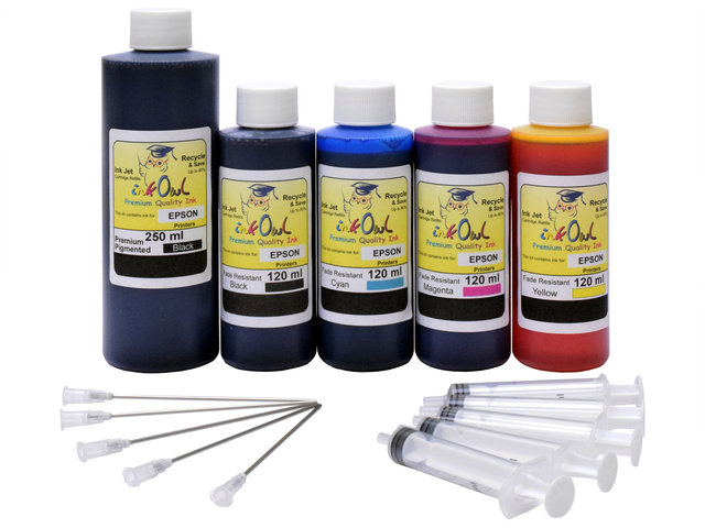 Mega Kit (250ml/120ml) for EPSON EcoTank Printers using 512 and other ink