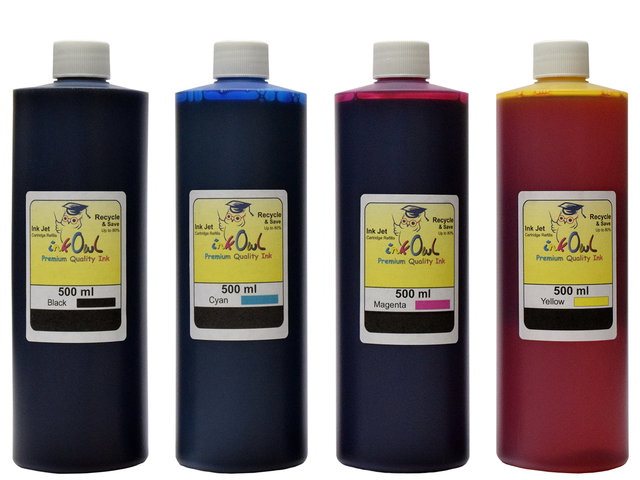 4x500ml Black, Cyan, Magenta, Yellow Ink for HP
