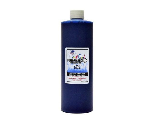 500ml CYAN Performance-D Sublimation Ink for Epson Desktop Printers