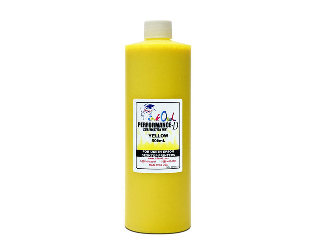 500ml YELLOW Performance-D Sublimation Ink for Epson Desktop Printers