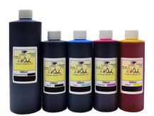 500ml Pigmented Black and 250ml Dye Black, Cyan, Magenta, Yellow Ink for use in CANON printers