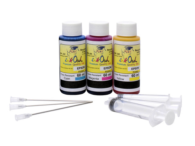 Color Kit (60ml) for EPSON EcoTank Printers using 502, 512, 522, and