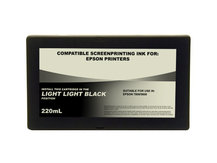 220ml Black Dye Screenprinting Cartridge for EPSON 7800, 9800 - LIGHT LIGHT BLACK Slot