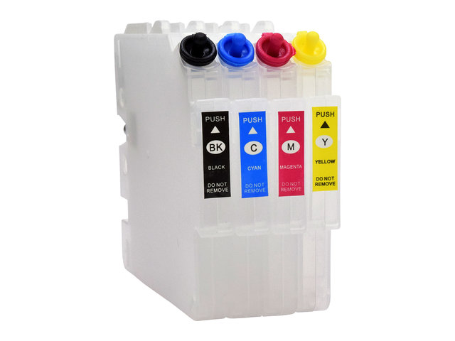 4-Pack Empty Refillable Cartridges for use in Ricoh® GX 5050