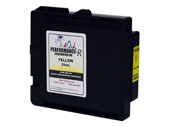29mL YELLOW Performance-R Sublimation Cartridge for use in Ricoh® GX e3300, GX e7700 printers (GC31)
