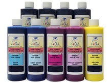 9x250ml Compatible Ink for EPSON Ultrachrome HD with MATTE BLACK for SureColor P800