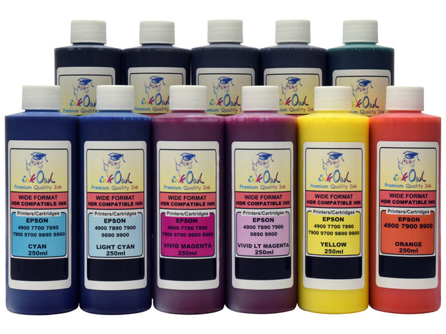 11x250ml ink for EPSON Stylus Pro 4900, 7900, 9900