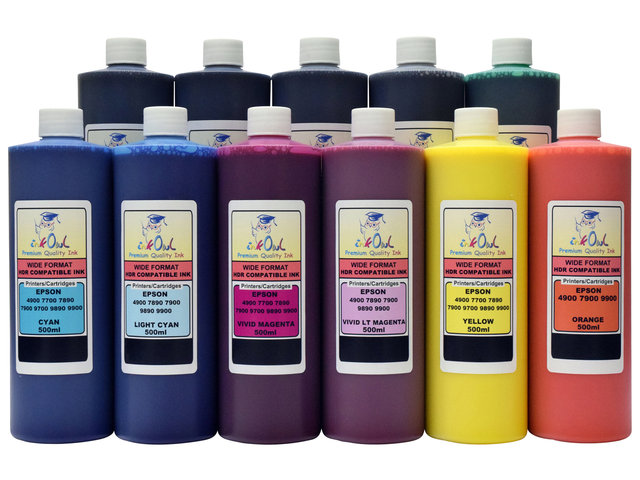 11x500ml ink for EPSON Stylus Pro 4900, 7900, 9900