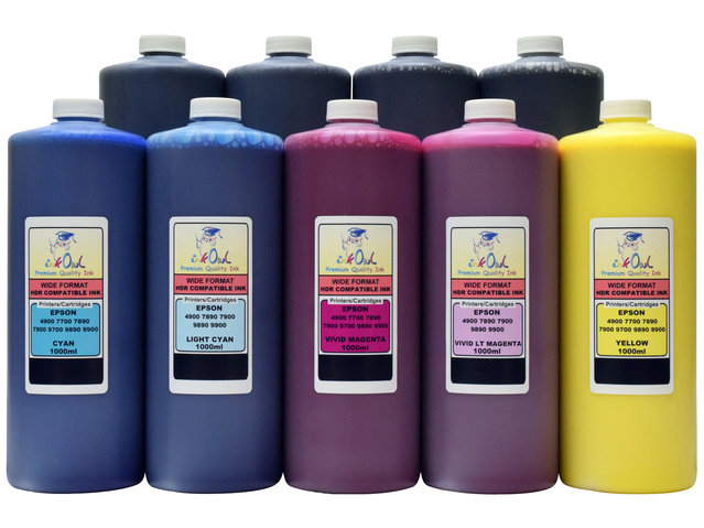 9x1L Compatible Ink for EPSON Ultrachrome K3/HDR for Stylus Pro 7890, 9890