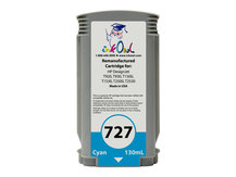 Remanufactured 130ml HP #727 CYAN Cartridge for DesignJet T920, T930, T1500, T1530, T2500, T2530 (B3P19A)