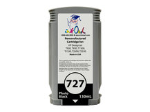 Remanufactured 130ml HP #727 PHOTO BLACK Cartridge for DesignJet T920, T930, T1500, T1530, T2500, T2530 (B3P23A)
