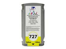 Remanufactured 130ml HP #727 YELLOW Cartridge for DesignJet T920, T930, T1500, T1530, T2500, T2530 (B3P21A)