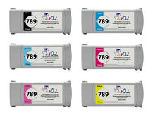6-Pack of Remanufactured 775ml HP #789 Latex Cartridges for DesignJet L25500