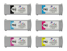 6-Pack of Remanufactured 775ml HP #792 Cartridges for DesignJet L26100, L26500, L26800, Latex 210, 260, 280
