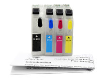Easy-to-refill Standard-Size Cartridge Pack for BROTHER LC101, LC103, LC105, LC107, LC109