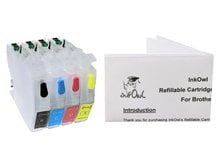 Easy-to-refill Standard-Size Cartridge Pack for BROTHER LC3011, LC3013
