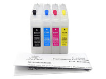 Easy-to-refill Standard-Size Cartridge Pack for BROTHER LC71, LC75, LC79, and others