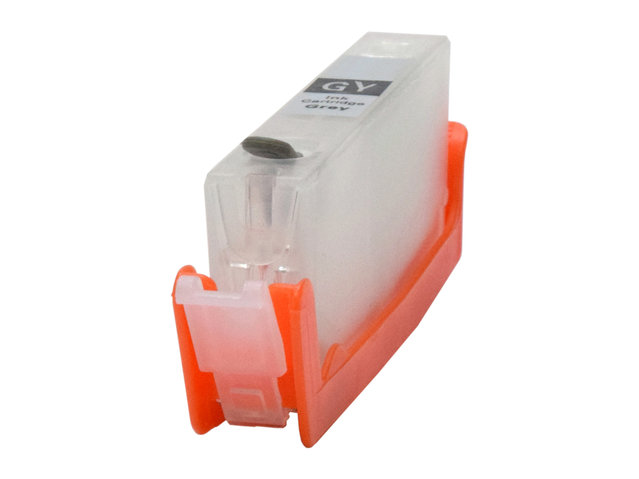 Easy-to-refill Gray Cartridge for use with CANON CLI-221GY