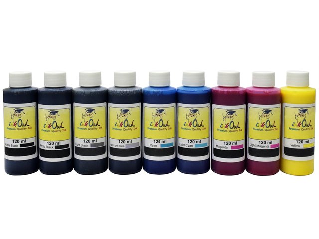 9x120ml Compatible Ink for EPSON Ultrachrome K3 with MATTE BLACK for Stylus Pro 3800