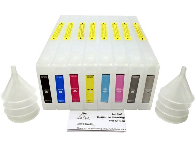 Refillable Cartridge Set for EPSON Stylus Pro 7800 and 9800