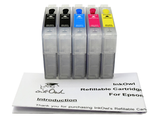 Easy-to-refill Cartridge Pack for EPSON Stylus C120, Workforce 30, 310, 315, 1100