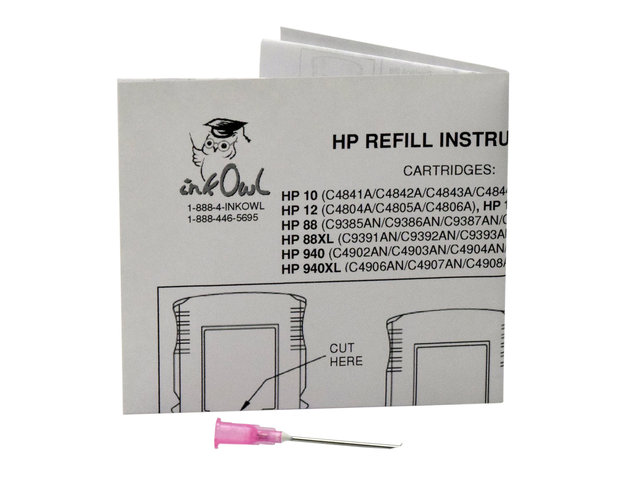 Refilling Tool for HP 10, 11, 12, 13, 18, 82, 84, 85, 88, 88XL, 940, 940XL
