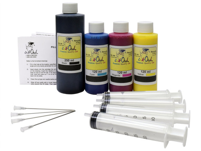 PIGMENTED* 250ml/120ml Bulk Kit for HP 970, 971, 972, 973