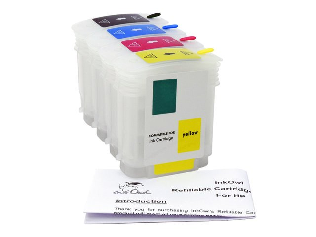 Easy-to-refill Cartridge Pack for HP 82 Black, 82 Color
