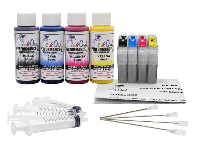 Performance-D 4x60ml Sublimation Ink Starter Kit for Epson WF-7210, WF-7710, WF-7720, and related models
