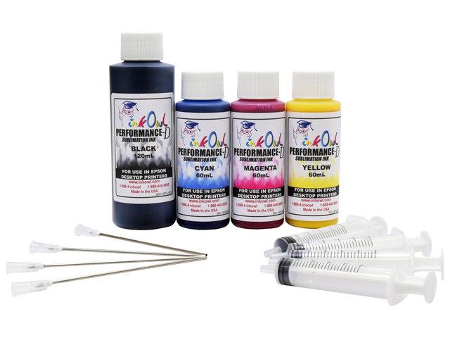 120ml Black, 3x60ml Color Performance-D Sublimation Ink for